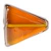 Glass Lamp Bead 22x18x5mm Topaz/Bronze Triangle